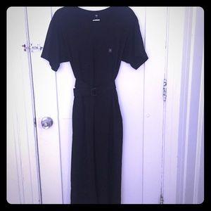 Uniqlo cotton maxi dress with belt, size S